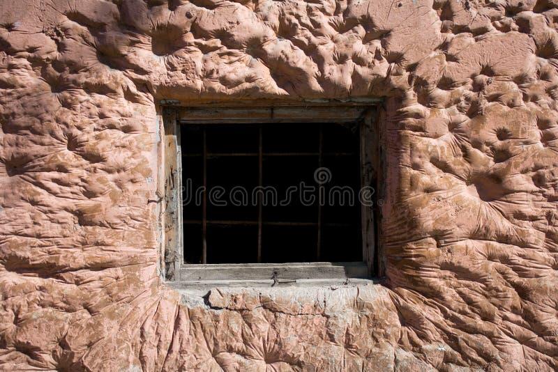 Fenster des Gefängnisses lizenzfreie stockfotografie