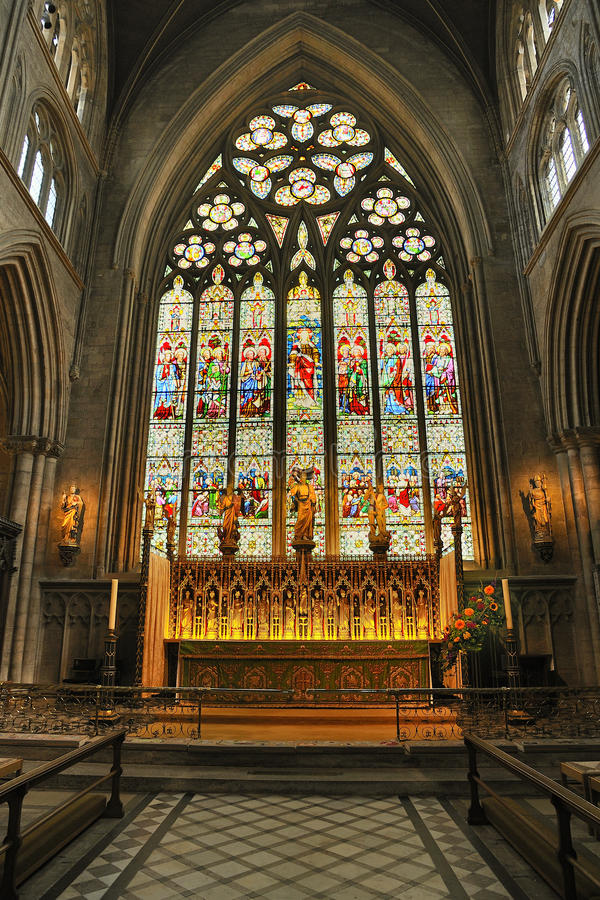 Fenster des hohen Altars, Ripon Kathedrale lizenzfreie stockfotografie