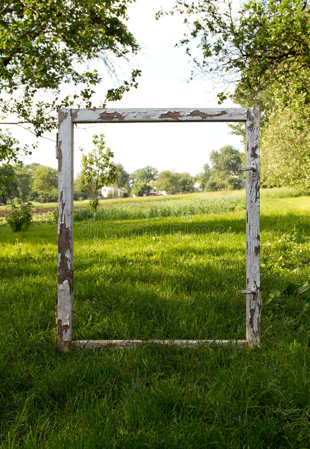 Fenster-Feld lizenzfreie stockfotos