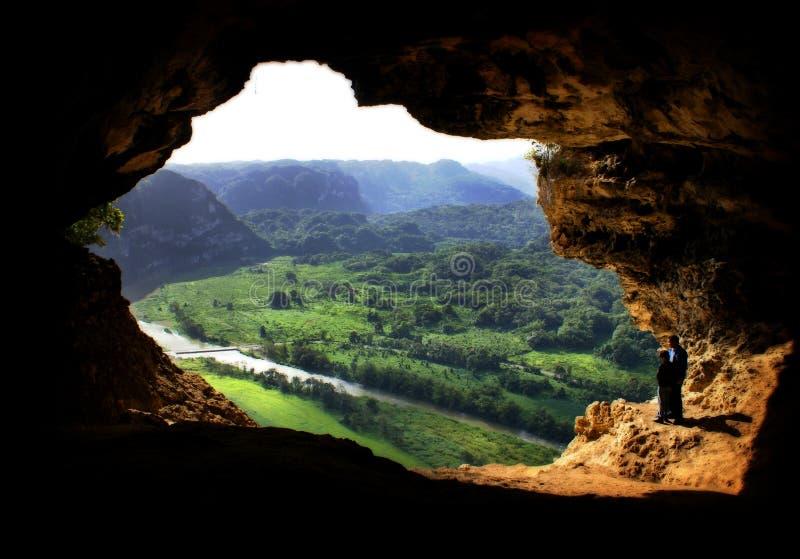 Fenster-Höhle stockfoto