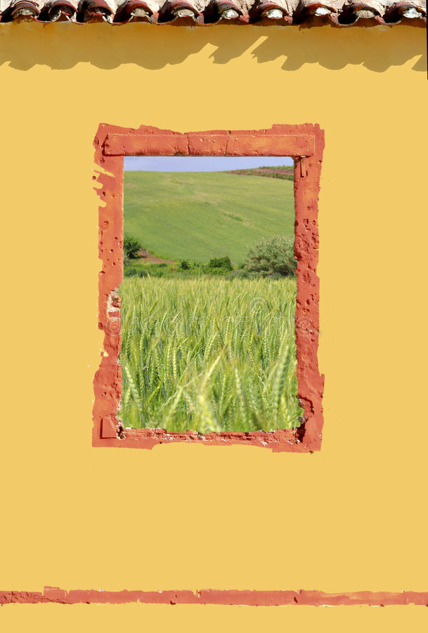 Fenster im Land stockbild