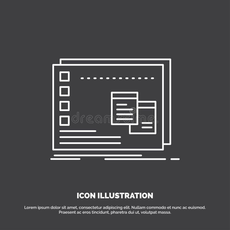 Fenster, Mac, betrieblich, OS, Programm Ikone Linie Vektorsymbol f?r UI und UX, Website oder bewegliche Anwendung lizenzfreie abbildung