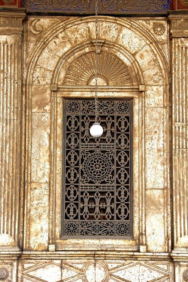 Fenster Mohamed-Ali Mosques. lizenzfreie stockbilder