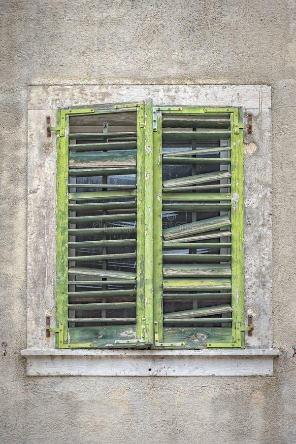 Fenster Montenegros Kotor lizenzfreies stockfoto