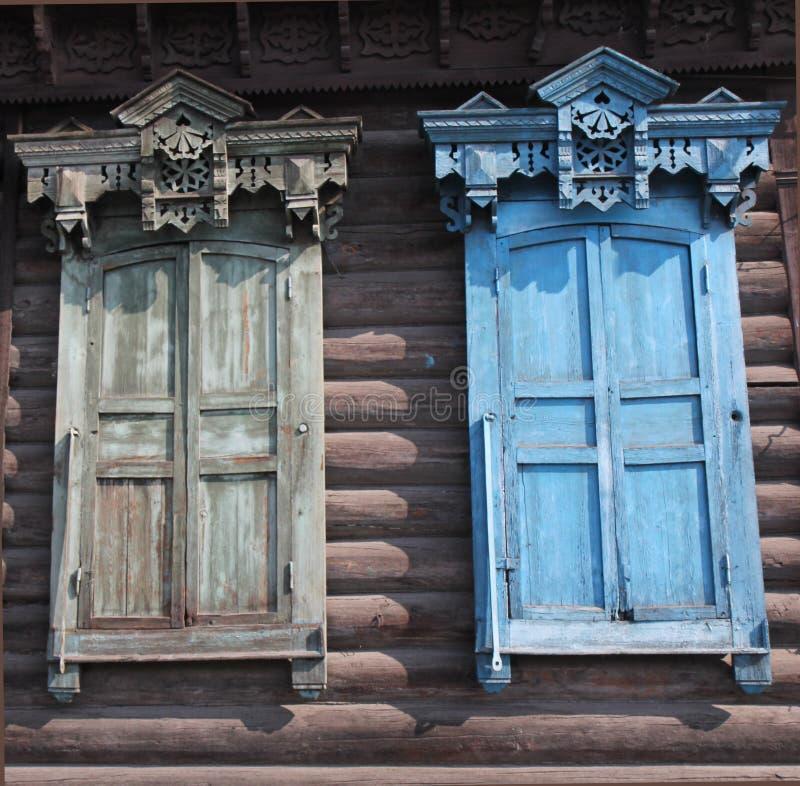 Fenster in Russland stockbilder