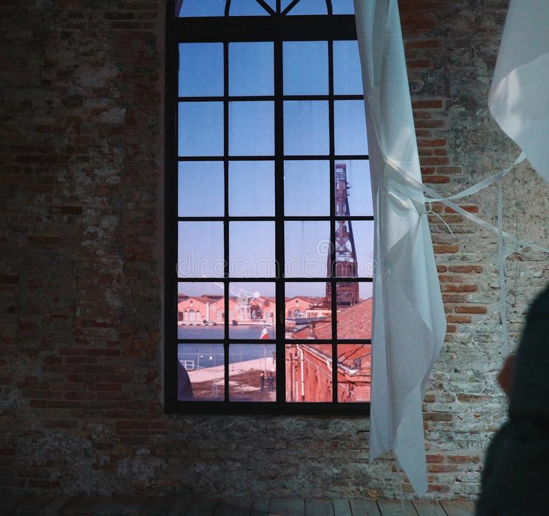 Fenster in Venedig lizenzfreies stockbild