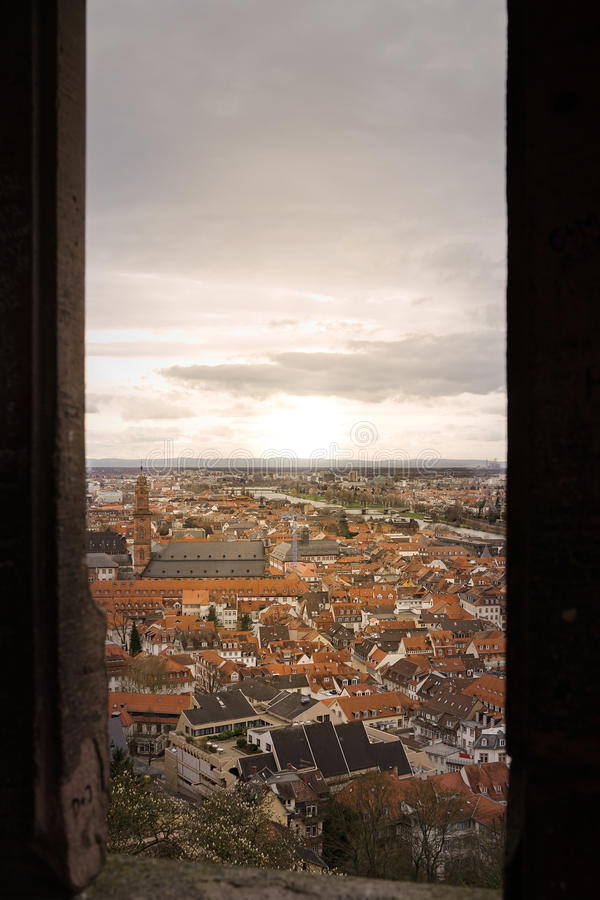 Fenster von Heidelberg-Schloss stockfotografie