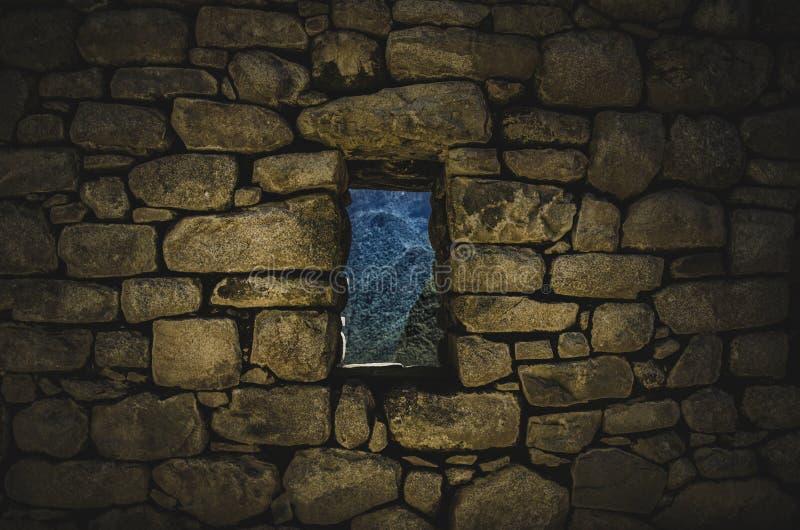Fenster von Machu Picchu lizenzfreies stockbild