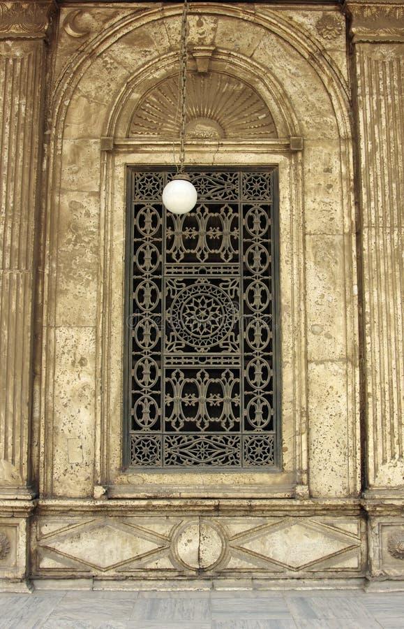 Fenster von Mohamed Ali-Moschee stockbilder