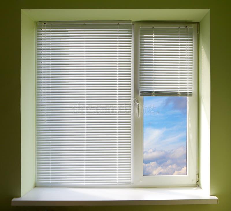 Fenster-Vorhänge lizenzfreies stockfoto