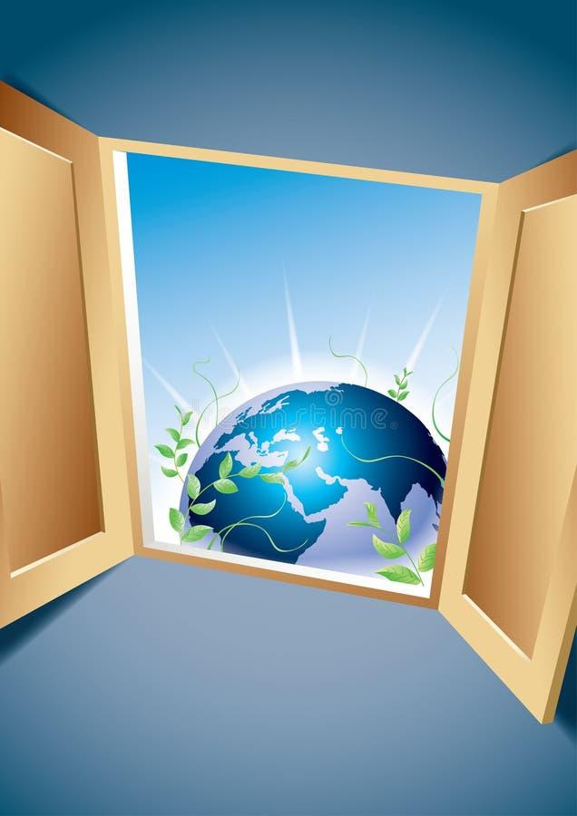 Fenster zu einer neuen Welt stock abbildung