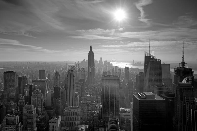 Fensteransicht von New York City lizenzfreie stockfotografie