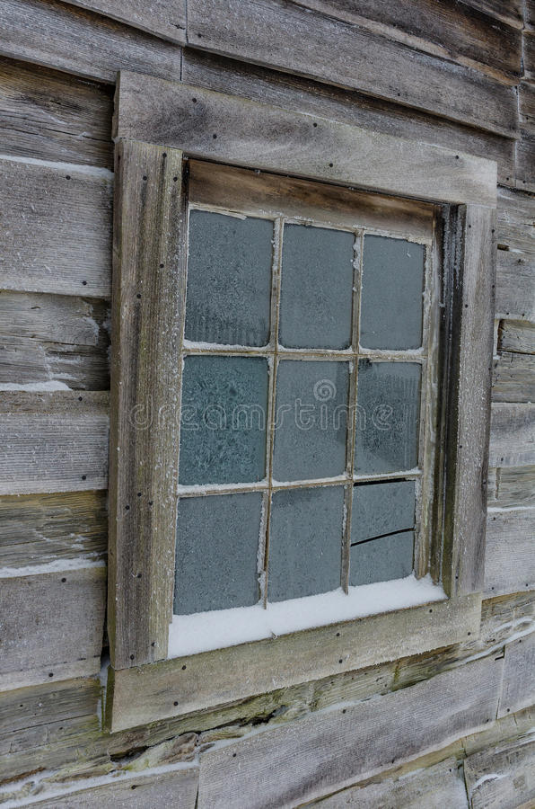 Fensterdetail, Winter, Cumberland Gap stockfoto