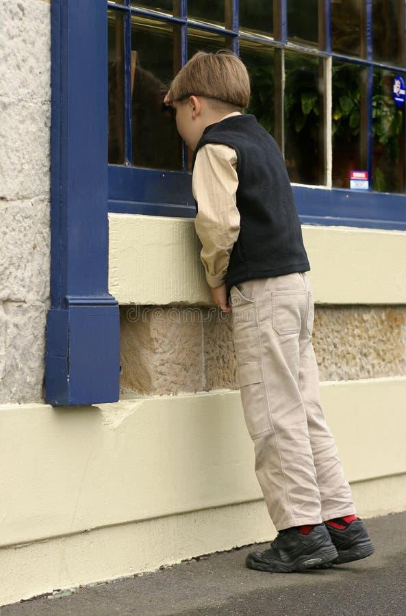 Fenstereinkaufen Stockbilder
