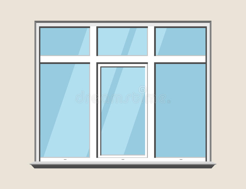 Download Fensterklassikerplastik Glas-construstion Gestalt Stock Abbildung - Illustration von ausführlich, innen: 96929643