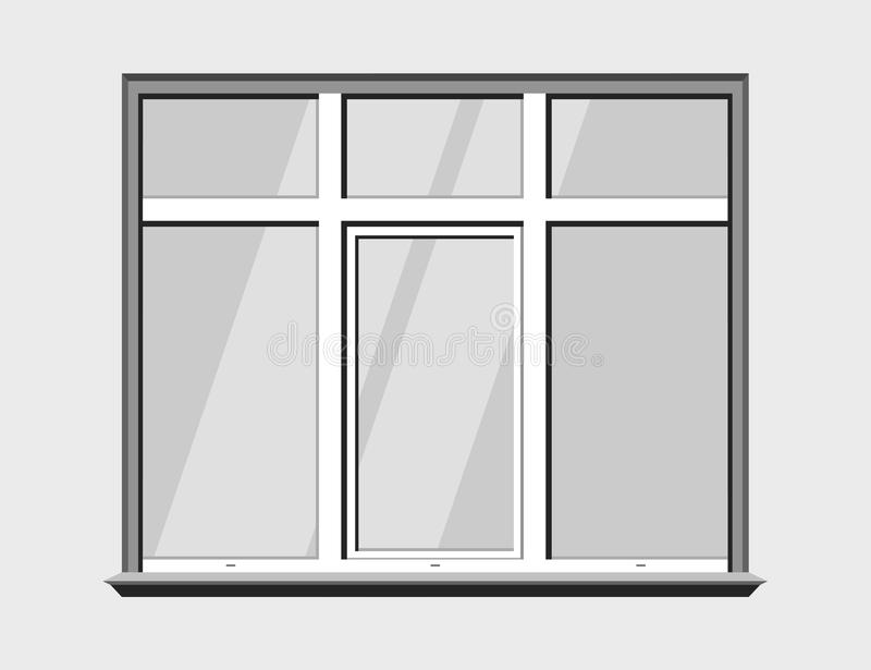 Download Fensterklassikerplastik Glasgestalt Stock Abbildung - Illustration von element, getrennt: 96929467