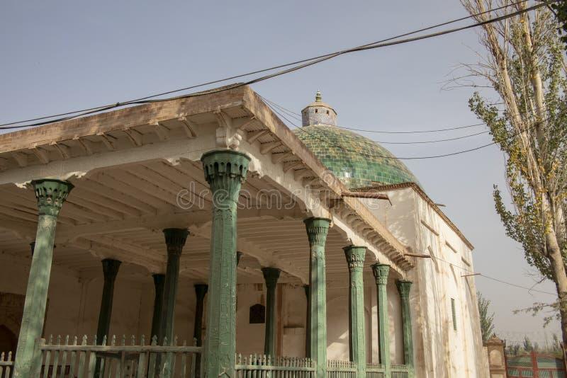 Fensterläden geschlossenes madrasa am Mausoleum von Apak Khoja, Kaschgar, China lizenzfreie stockfotografie