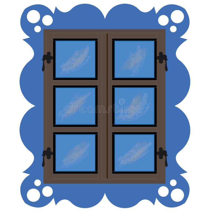 Fensterland lizenzfreie abbildung