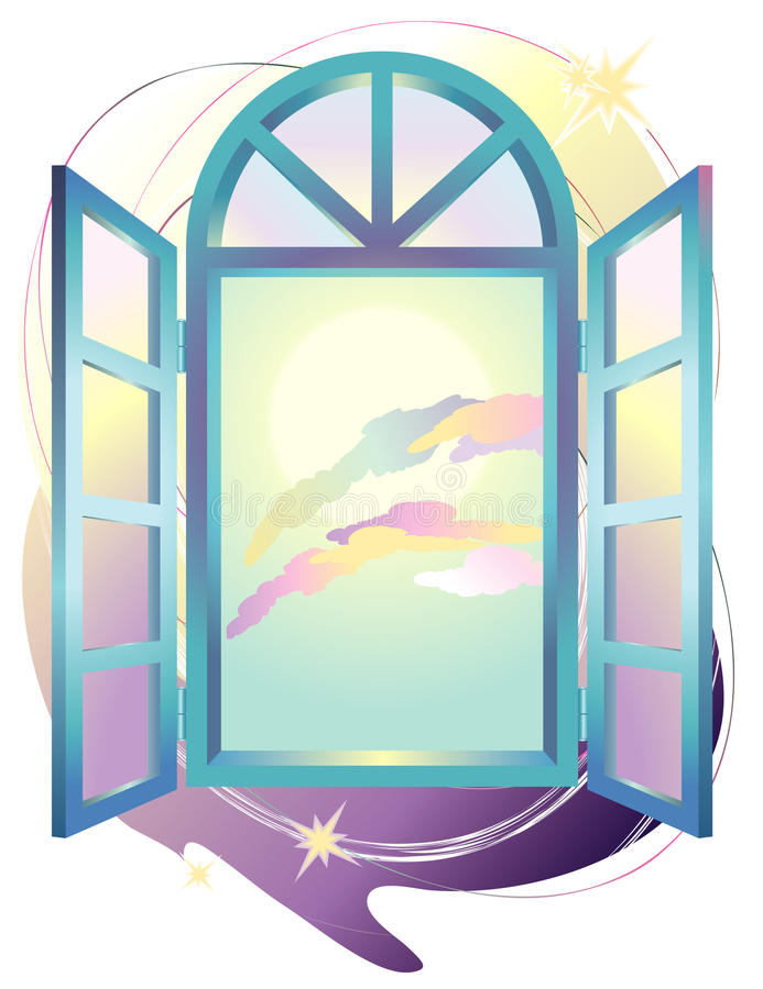 Fensterphantasie lizenzfreie abbildung