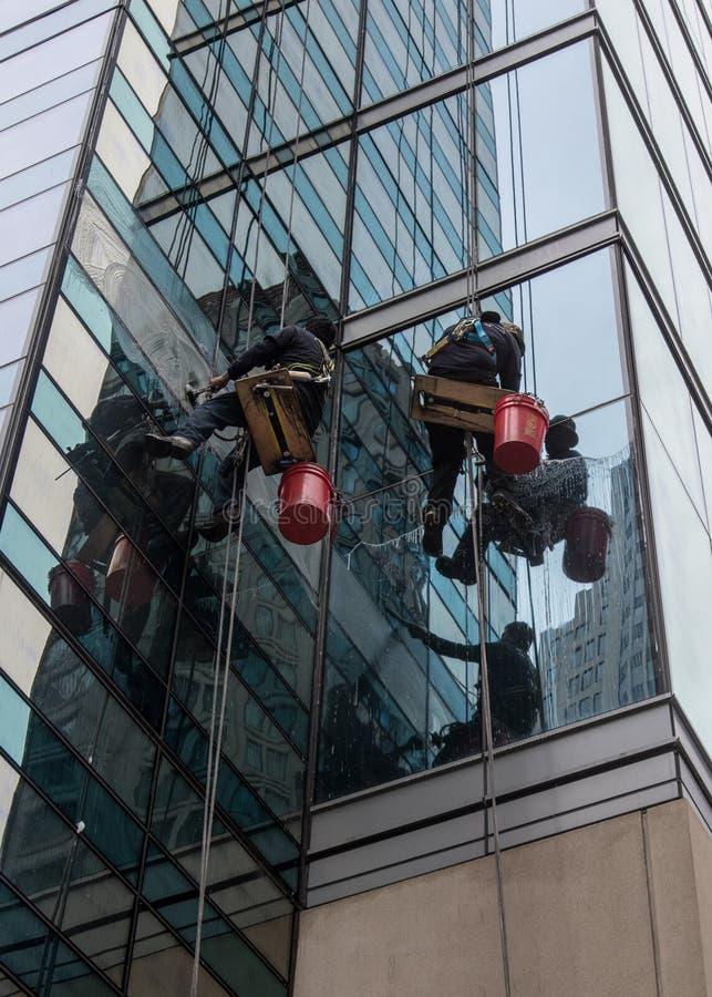 Fensterputzer stockfotos