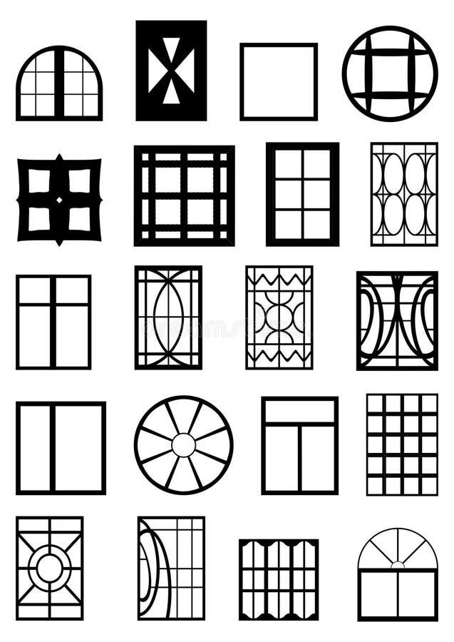 Fensterrahmen. lizenzfreie abbildung