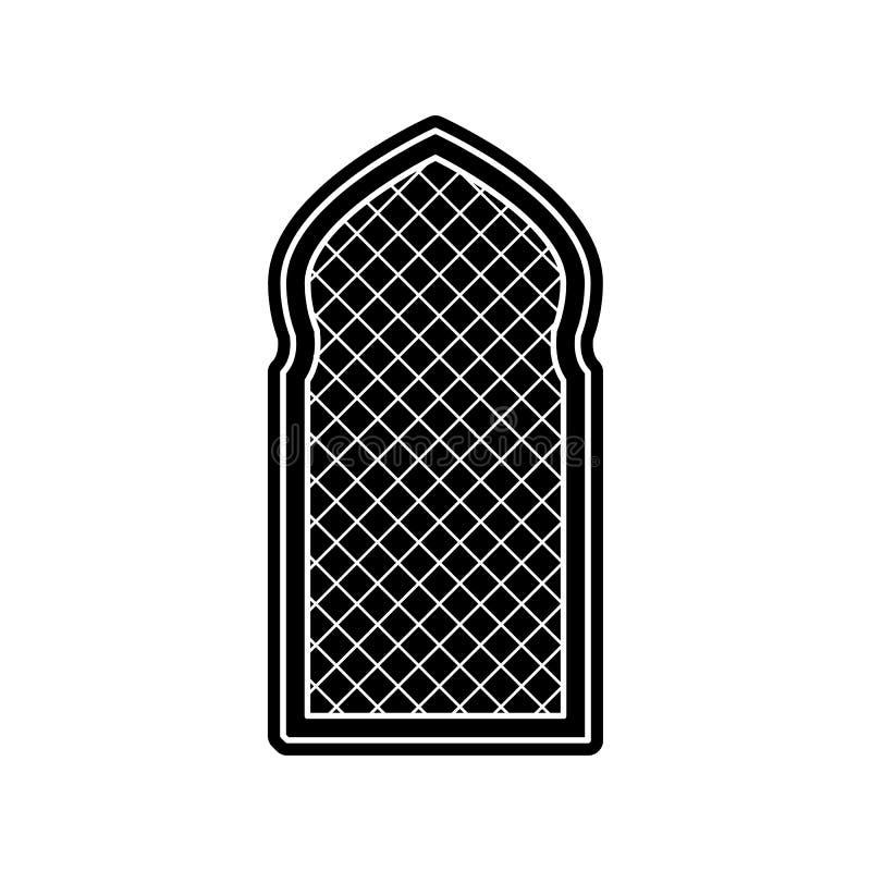 Fensterrahmen-Arabischikone Element von arabischem f?r bewegliches Konzept und Netz Appsikone Glyph, flache Ikone f?r Websiteentw stock abbildung