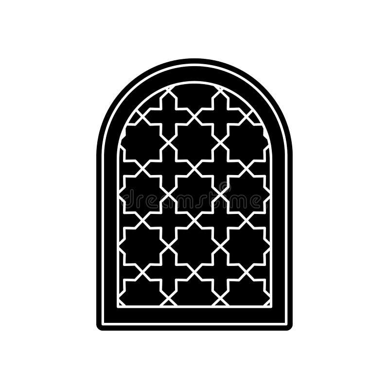 Fensterrahmen-Arabischikone Element von arabischem f?r bewegliches Konzept und Netz Appsikone Glyph, flache Ikone f?r Websiteentw lizenzfreie abbildung