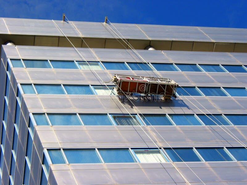 Fensterreinigung Stockbild