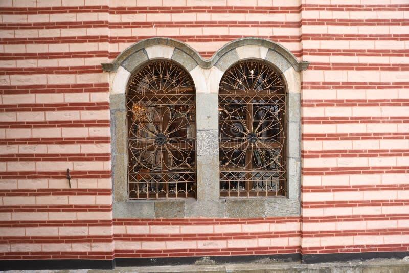Fensterstahldekorationen stockbild