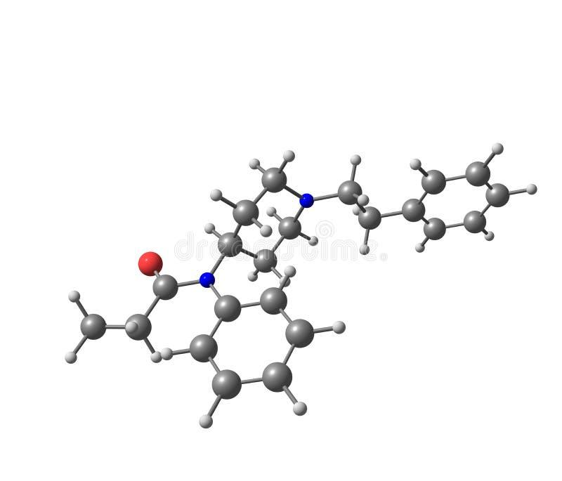 Fentanyl cząsteczkowa struktura na białym tle ilustracji