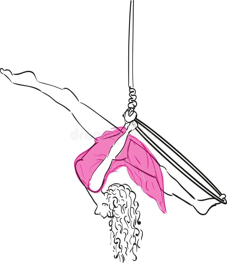Fente d'Aerialhoop illustration libre de droits
