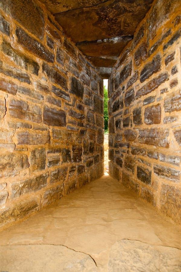 Fente de flèche de château de Guedelon image stock
