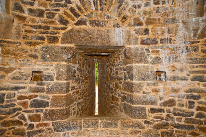 Fente de flèche de château de Guedelon photo stock