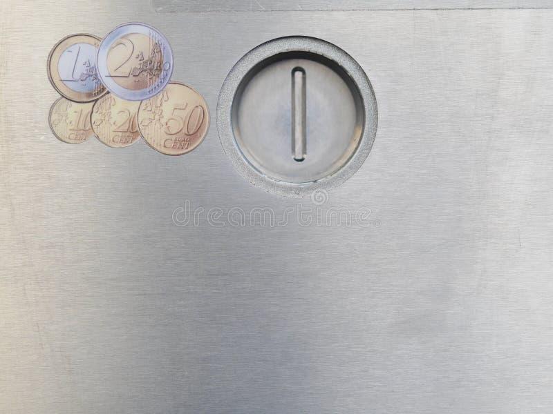 Fente de pièce de monnaie photo libre de droits