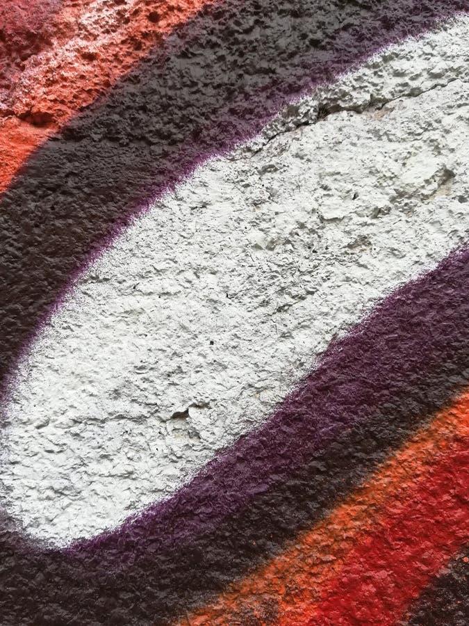 Fente prononcée d'effet dans un mur photo libre de droits