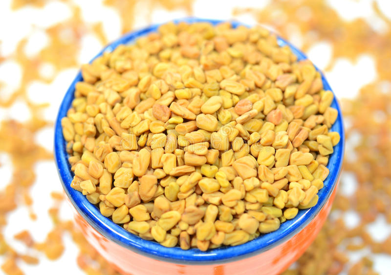 Fenugreek seeds stock photography