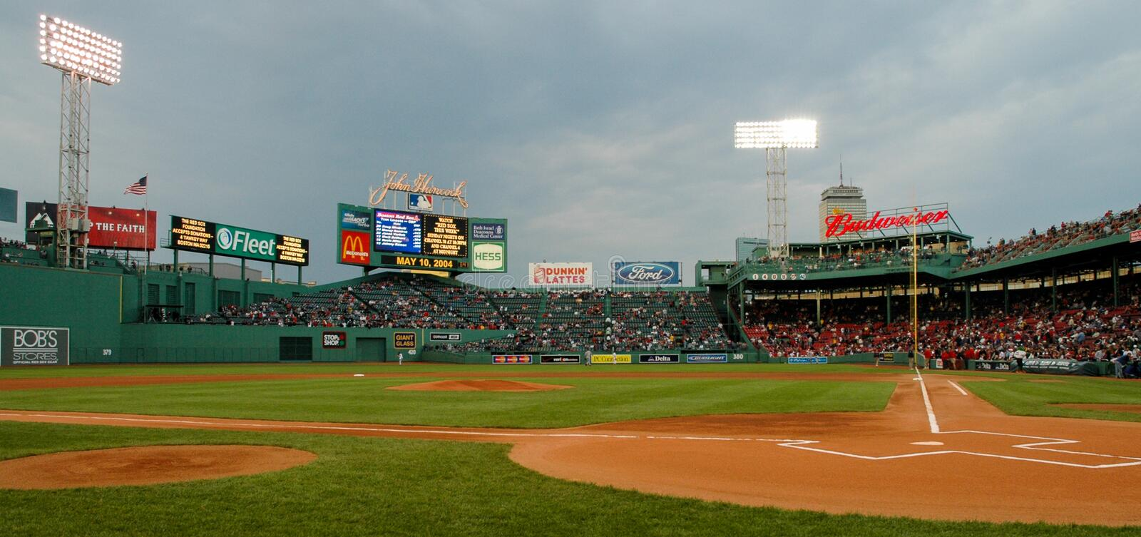 Fenway Park Boston, MA. Almost game time at Fenway Park, Boston, MA. . Image taken from color slide royalty free stock photo