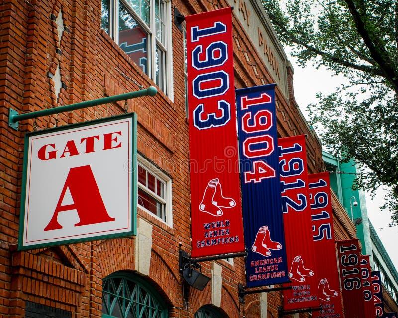 Fenway Park, portone A. Boston, mA fotografia stock libera da diritti