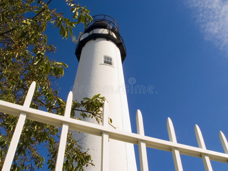 Fenwick Island Lighthouse. In Delaware at the Delaware/Maryland Border on the Atlantic Coast royalty free stock images
