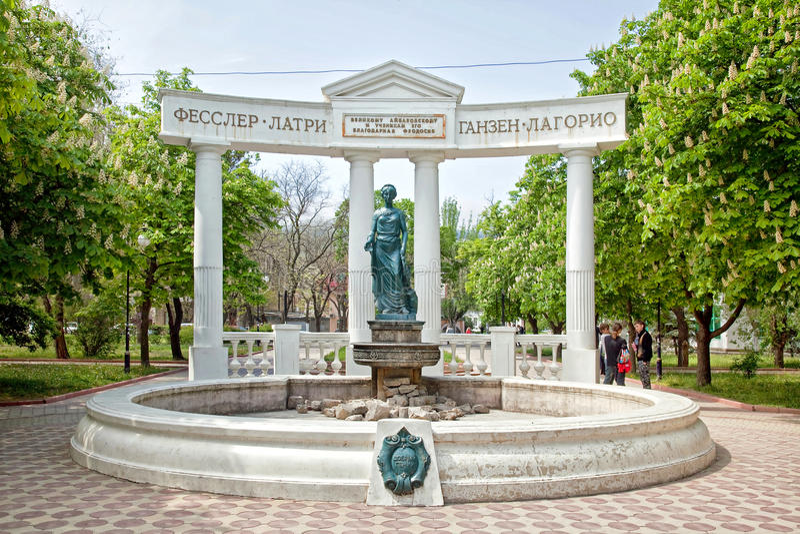 Feodosiya Sculpture à l'ange gardien photographie stock