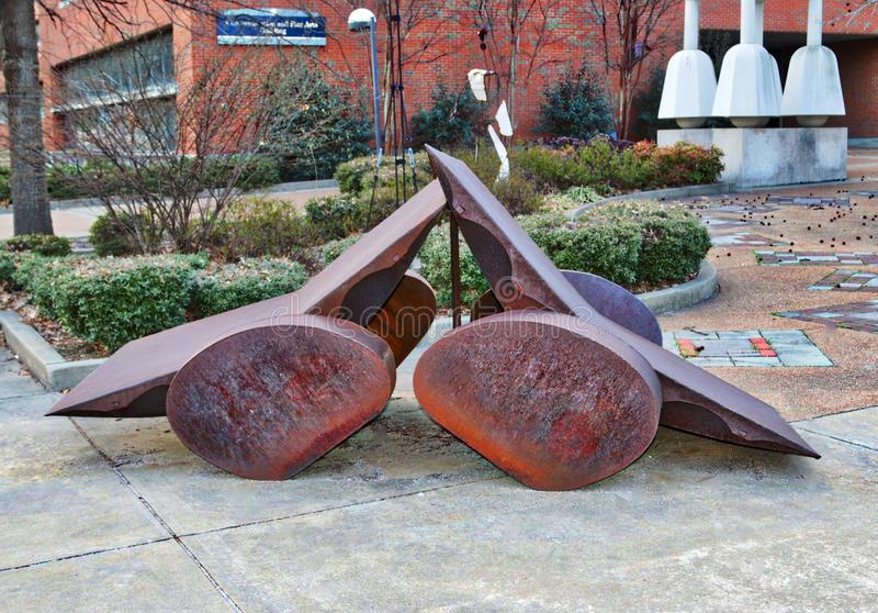 Fer Art Exhibit At The University de Memphis photo libre de droits