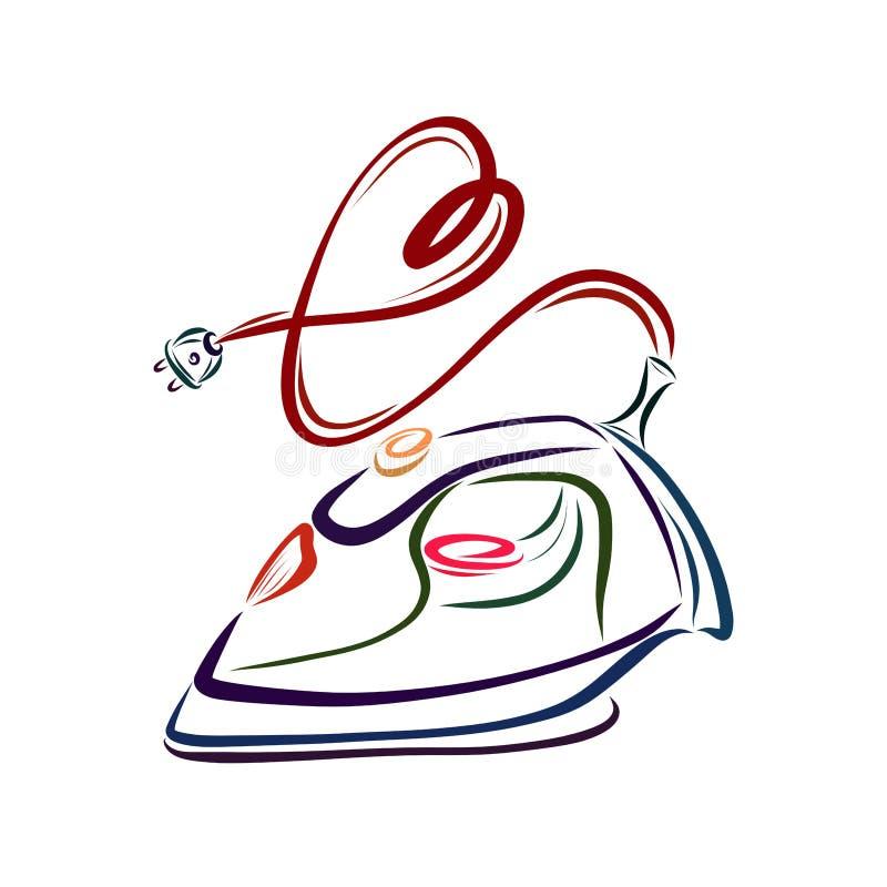 Fer avec la corde sous forme de coeur illustration libre de droits