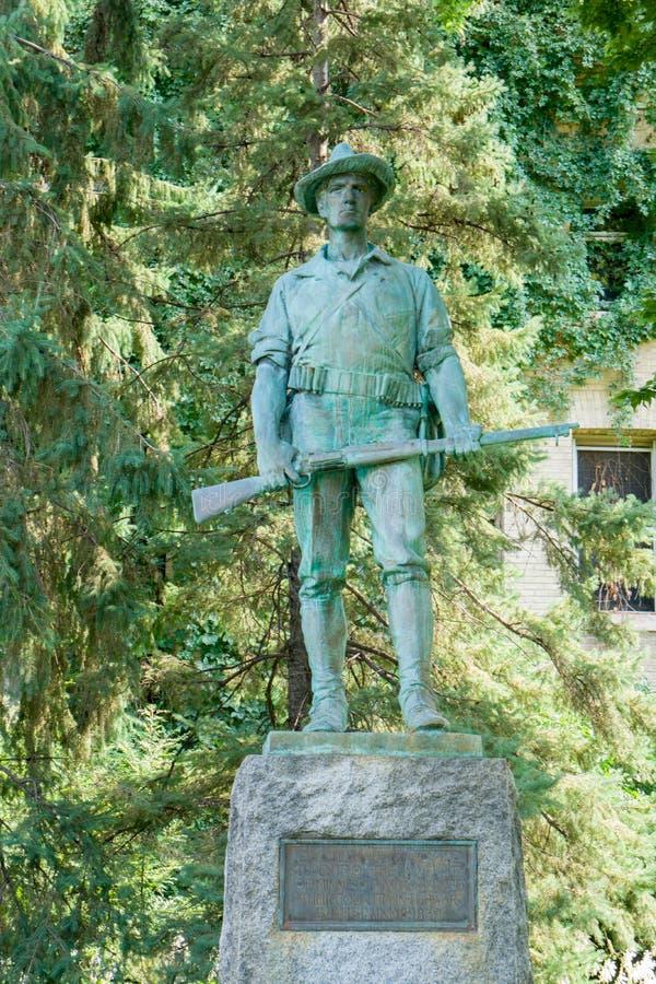 Fer Mike Statue sur le campus de l'université du Minnesota photographie stock libre de droits