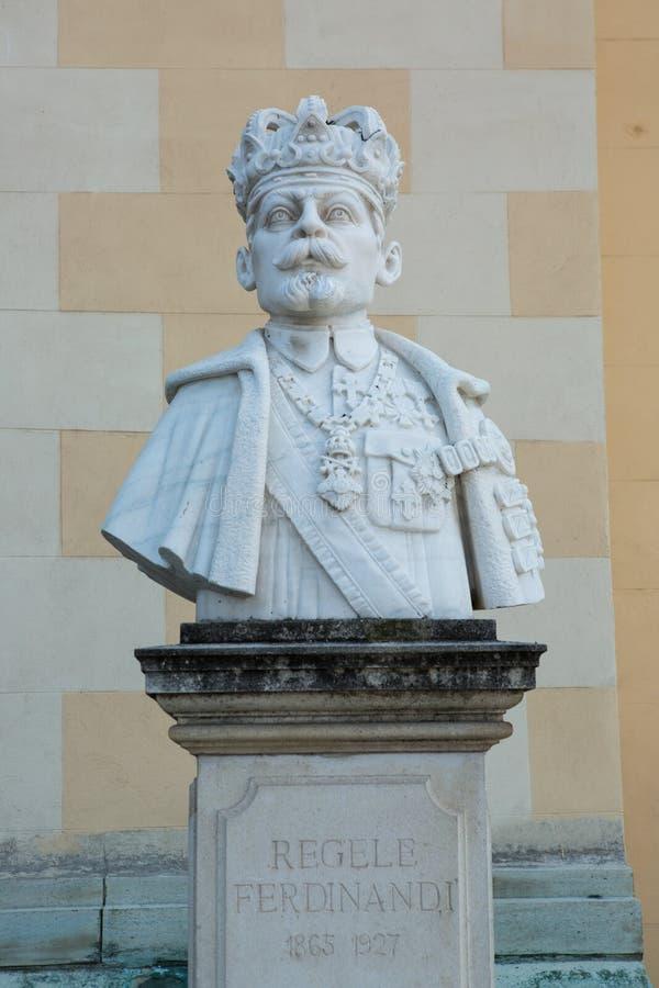 Ferdinand I της αποτυχίας της Ρουμανίας στην ακρόπολη της πόλης της Alba Iulia στη Ρουμανία στοκ φωτογραφία