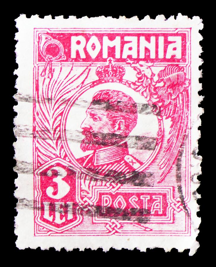 Ferdinand I, serie do rei Ferdinand Eu - do Romênia Posta, cerca de 1925 foto de stock