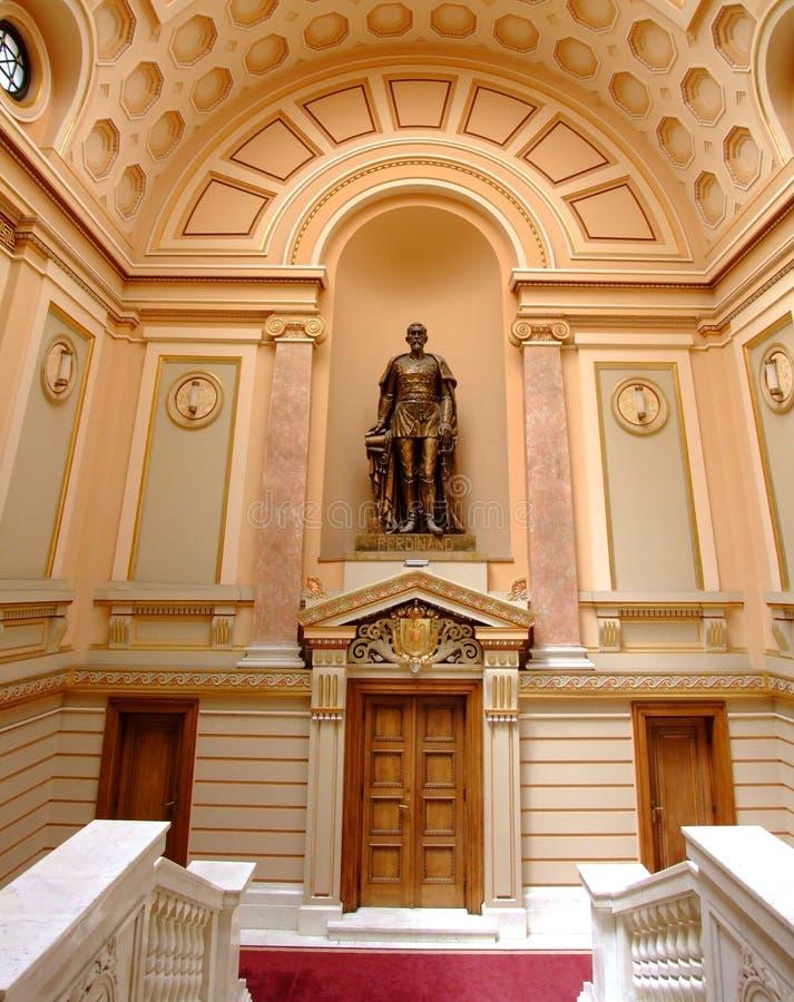 Ferdinand Ja De hohenzollern-Sigmaringen biblioteka uniwersytecka Iasi obrazy stock