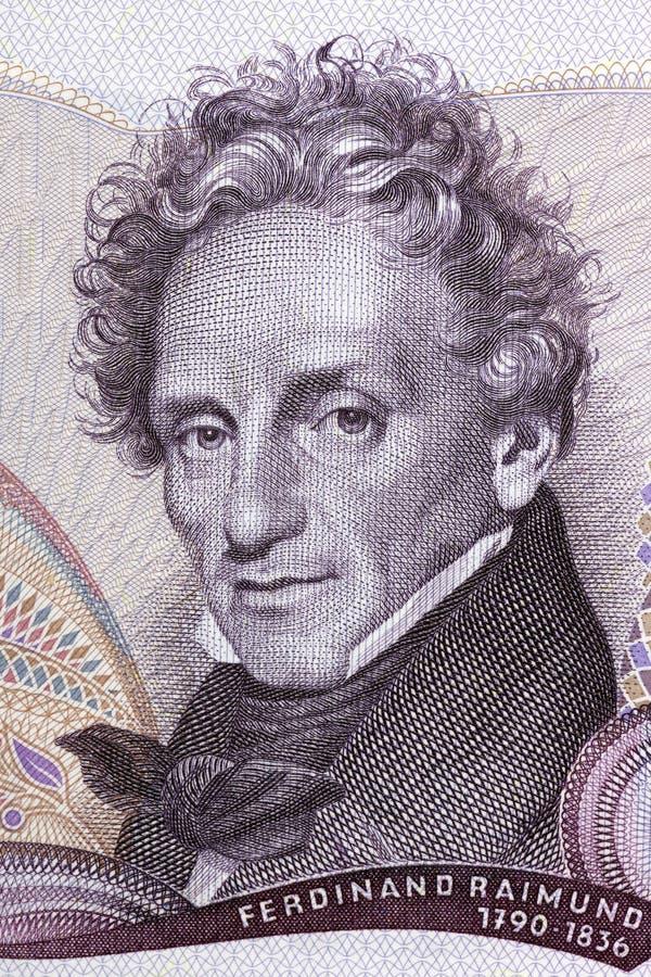 Ferdinand Raimund portret obrazy stock