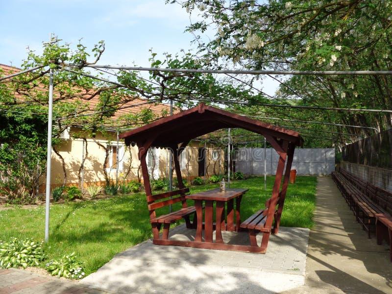 Feredeu monaster podwórze Arad okręg administracyjny, Rumunia obrazy stock