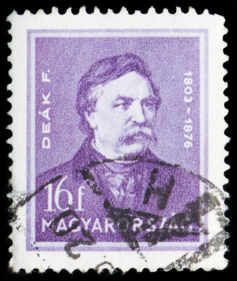 Ferenc Deak 1803-1876 polityk, osobowości seria około 1932, zdjęcie stock