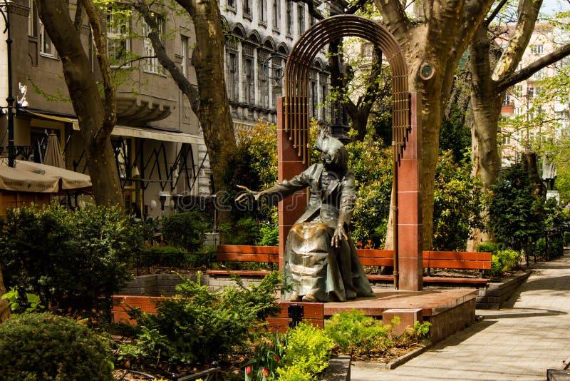 Ferenc Liszt-` s Statue in Budapest, Ungarn lizenzfreies stockfoto